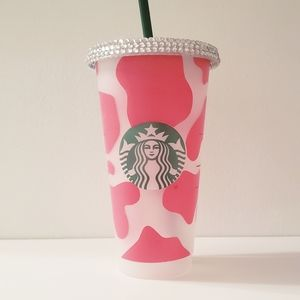 Cow print Starbucks tumbler